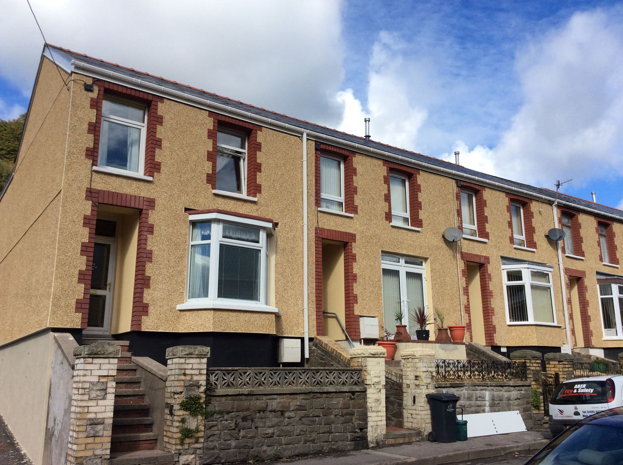 EWI Refurbishment Project, Six Bells, Abertillery